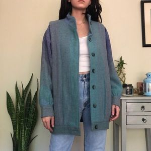 Vintage watercolor wool coat